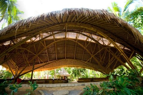 Fossil Dome Bamboo Nwot eco lessons at the green school in bali zouch