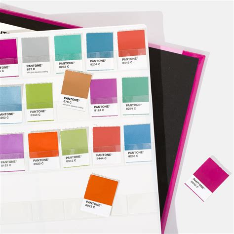pms color book pantone metallic chips coated color inspiration