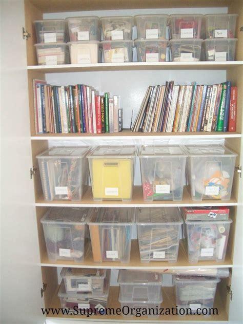 Craft Closet Storage Ideas by Craft Storage Closet Spaces Organization