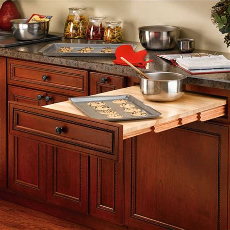 Kitchen Cabinet Table Rev A Shelf Wood Pull Out Table For Kitchen Or Desk Cabinet Kitchensource