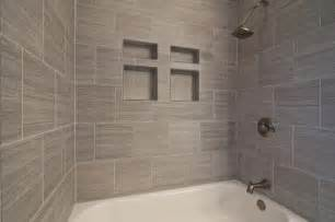Bathroom Tile Ideas Grey Gray Tile Horizontal Contemporary Bathroom Other Metro By Franks Home Maintenance