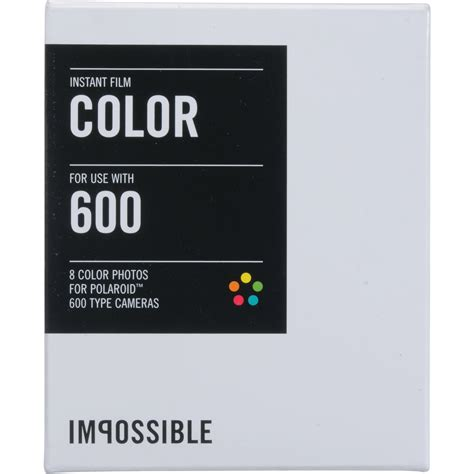 polaroid 600 instant impossible color instant for polaroid 600 cameras