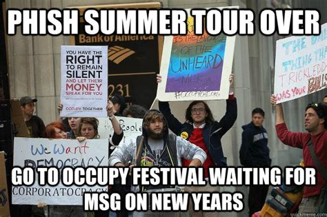 phish summer tour over go to occupy festival waiting for