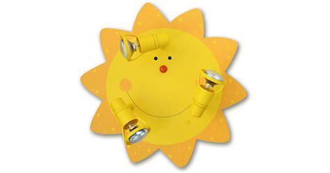 deckenleuchte kinderzimmer sonne waldi leuchten kinder deckenleuchte sonne 3flg