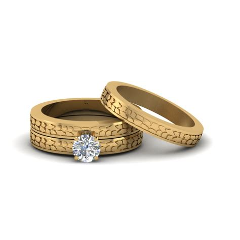 cheap diamond wedding ring sets for her round cut twist rope design diamond bridal ring sets in