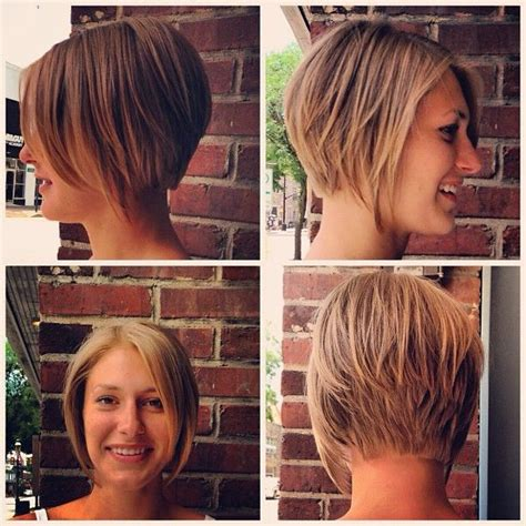 the salon guy bob short cut graduated stacked bob cut and style by kyme at gravity