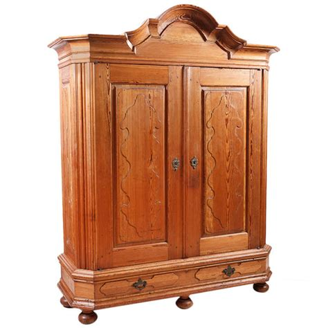 Armoire Pices by German Kiefer Pine Armoire With Carved Bonnet