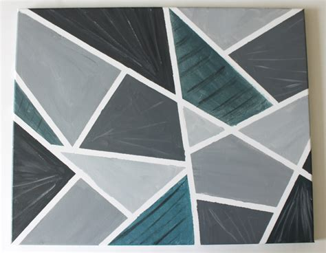 geometric pattern wall canvas diy easy geometric painting