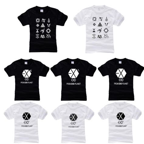 Tshirt Exo Planet Roffico Cloth 1 Free Shipping Wholesale Drop Shipping Exo Exo M T