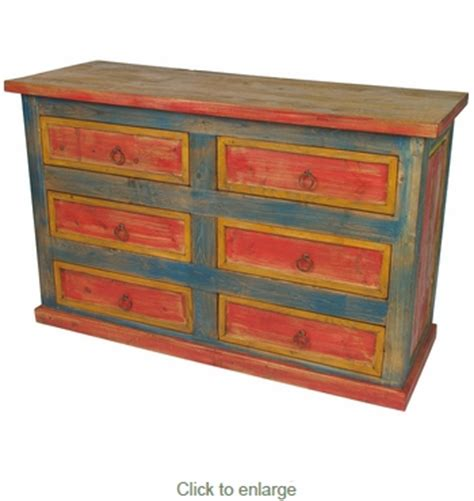 multi colored drawer dresser multi color six drawer dresser mexican painted wood