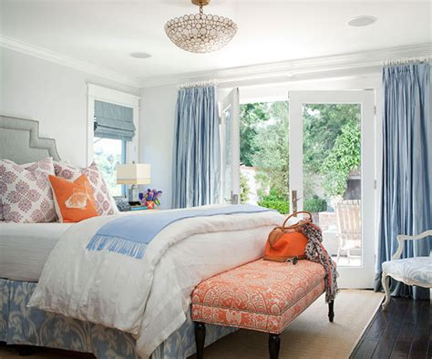 Blue And Gray Bedroom Cottage Bedroom Bhg Light Orange Bedroom