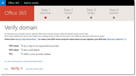 Office 365 Mail Own Domain Office 365 Adding A Custom Domain Technet Articles