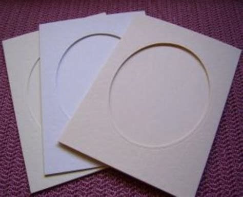 card paper envelopes large biscuit tri fold cards