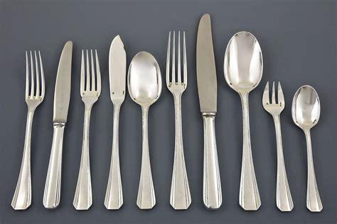 artistic flatware 128 pieces deco cutlery set boreal christofle original 1935 at 1stdibs