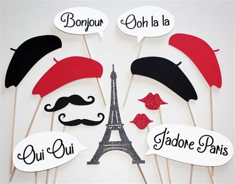 free printable paris themed photo booth props 17 best images about paris party on pinterest dessert
