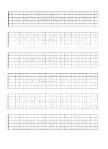 Guitar Fretboard Template by Blank Guitar Fretboard Note Chart Pictures To Pin On
