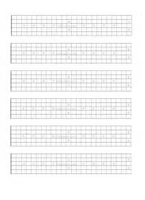Printable Guitar Fretboard Template by Guitar Fretboard Paper