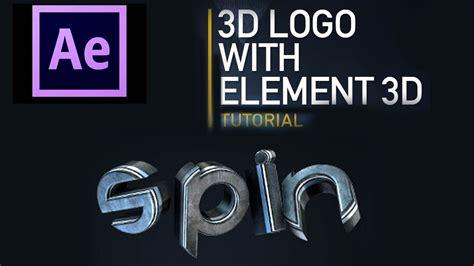 tutorial after effect element 3d after effects 3d element tutorial 3d text youtube