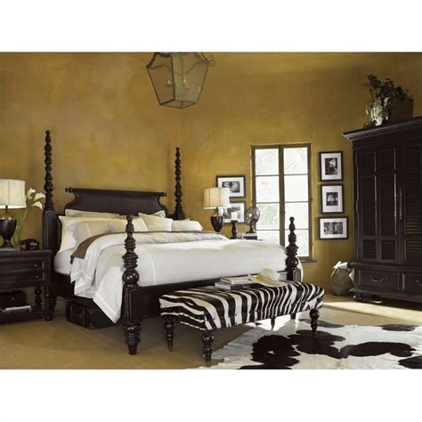 tommy bahama bedroom set tommy bahama home kingstown sovereign wood poster bed 4 piece bedroom set in tamarind