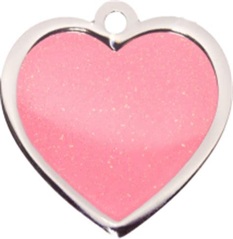 name tag heart design pink sparkle large heart pet tag fashion pet id name tags