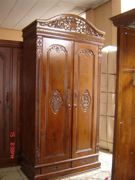 Tempat Tidur Rahwana Bahan Dari Kayu Jati Warna Fenesing Ukur lemari pakaian jati rahwana 2 pintu djati mebel jepara