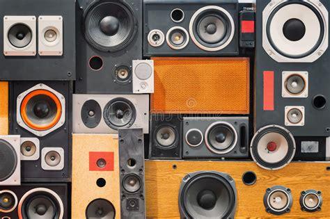 Lautsprecher Membran Lackieren by Retro Vintage Style Sound Speakers Stock Photo