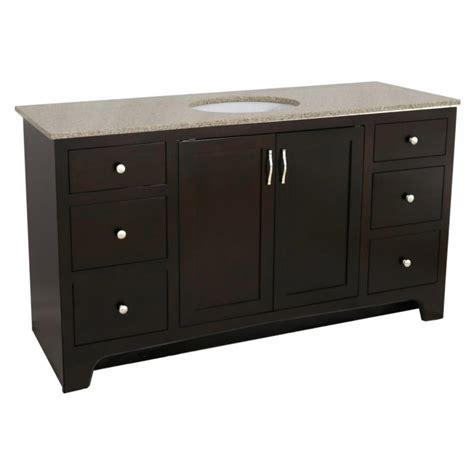 design house vanity top design house 60 in x 21 in x 33 1 2 in 2 door 4 drawer vanity in espresso with dbl bowl