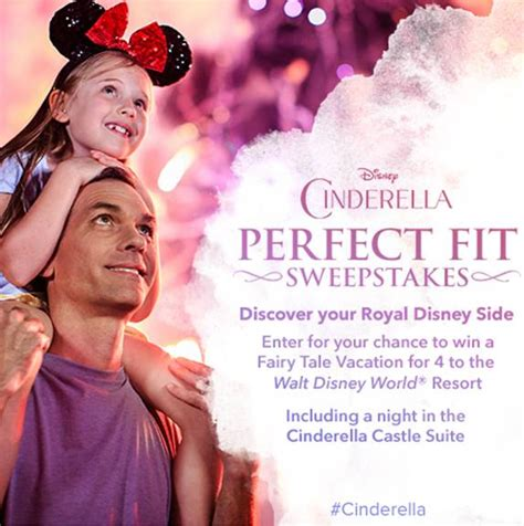 Free Disney Vacation Sweepstakes - cinderella perfect fit sweepstakes offering free disney vacation and stay in
