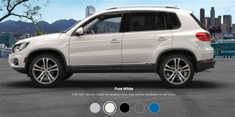 volkswagen suv white 2017 volkswagen tiguan colors and pricing