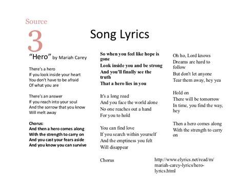 heroes printable lyrics themenotebookmodel