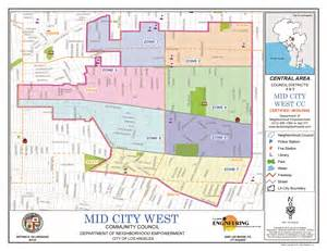 west city map mid city los angeles