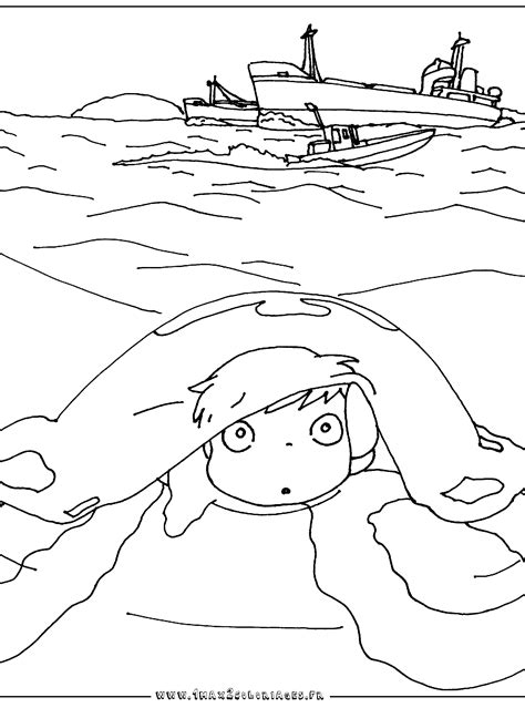 coloring pages ponyo ponyo coloring pages from hannah free printables