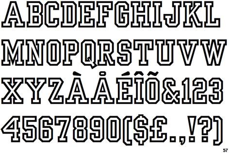 typography yearbook identifont yearbook outline