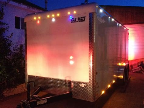 enclosed trailer led lights 2013 carmate 100 solar heated and cooled the top