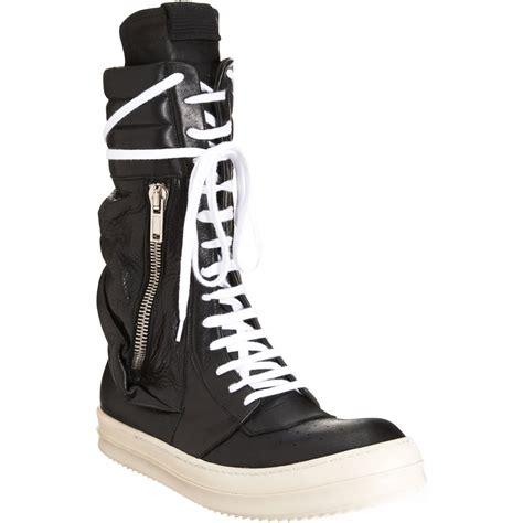 rick owens side zip sneaker shoes sneaker cabinet