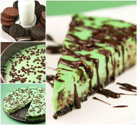 creative ideas diy mint chocolate chip cheesecake