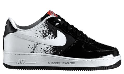 imagenes nike force nike air force 1 low premium black white hot red