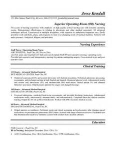 operating theatre free resume template resumes