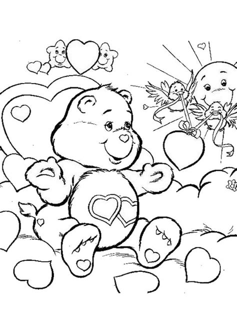care bear coloring pages pdf care bears coloring pages love a lot bear coloring home