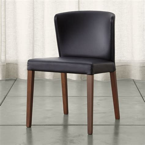 dining room charis black leather dining room chair plushemisphere