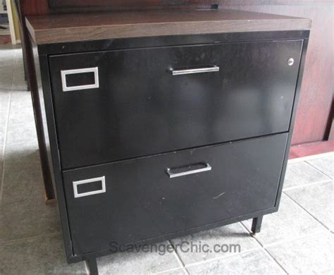 old fashioned metal file cabinet old metal file cabinet gets a architectural style makeover