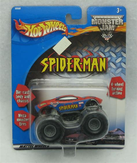 Wheels Authentic Jam Inside Spider 2001 wheels jam truck die cast new wheels jam 4x4 trucks