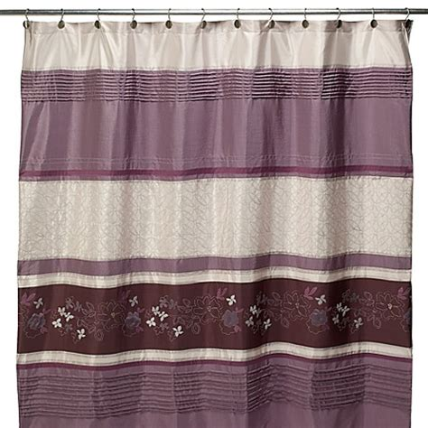 purple fabric shower curtains silhouette purple fabric shower curtain bed bath beyond