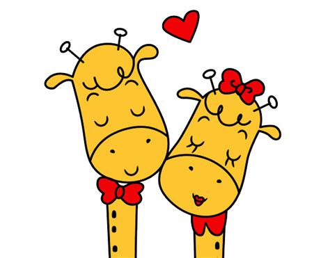 imagenes de amor de jirafas animadas dibujos de jirafas tiernas para colorear imagui