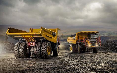 wallpapers volvo    trucks mining dump truck quarry mining equipment