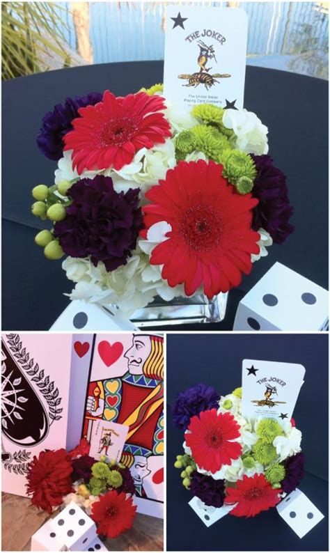 template for flower arrangement card casino decor cards painted