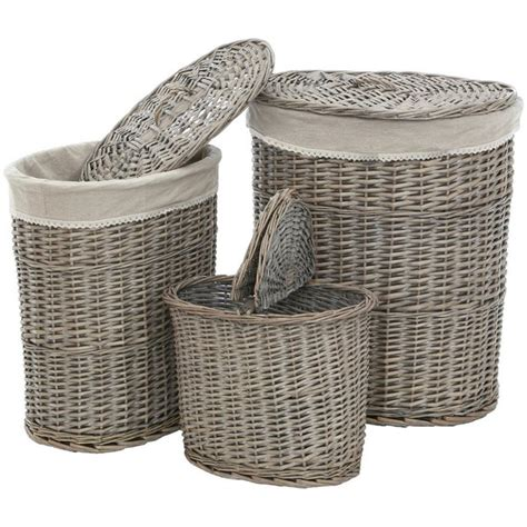 argos laundry buy premier housewares set of 3 willow laundry baskets at
