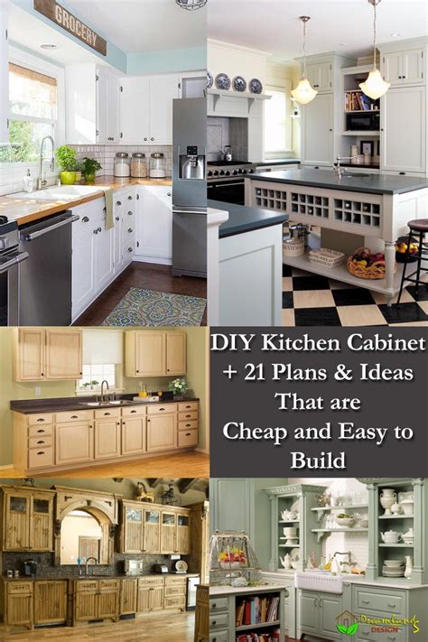 diy kitchen cabinet ideas diy kitchen cabinet plans 21 ideas that are cheap easy
