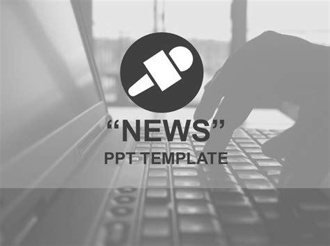 News Ppt Template 뉴스 언론 시사 테마의 모노톤 피피티 템플릿 네이버 블로그 News Powerpoint Template