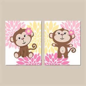 Monkey Nursery Wall Decor Monkey Wall Baby Nursery Decor Monkey Bathroom